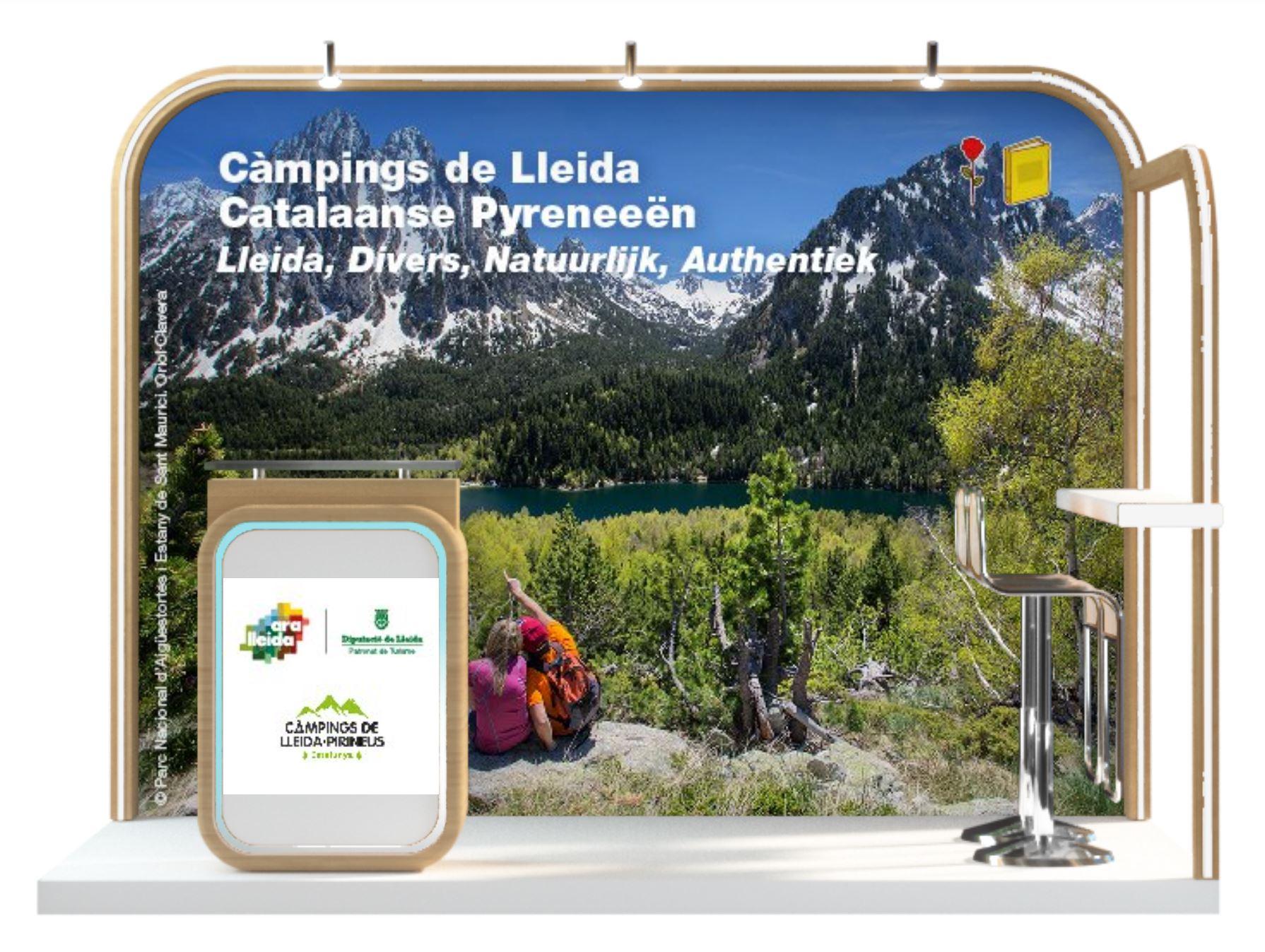 Imatge de l'estand virtual del Patronat i de l'Associació de Càmpings de Lleida