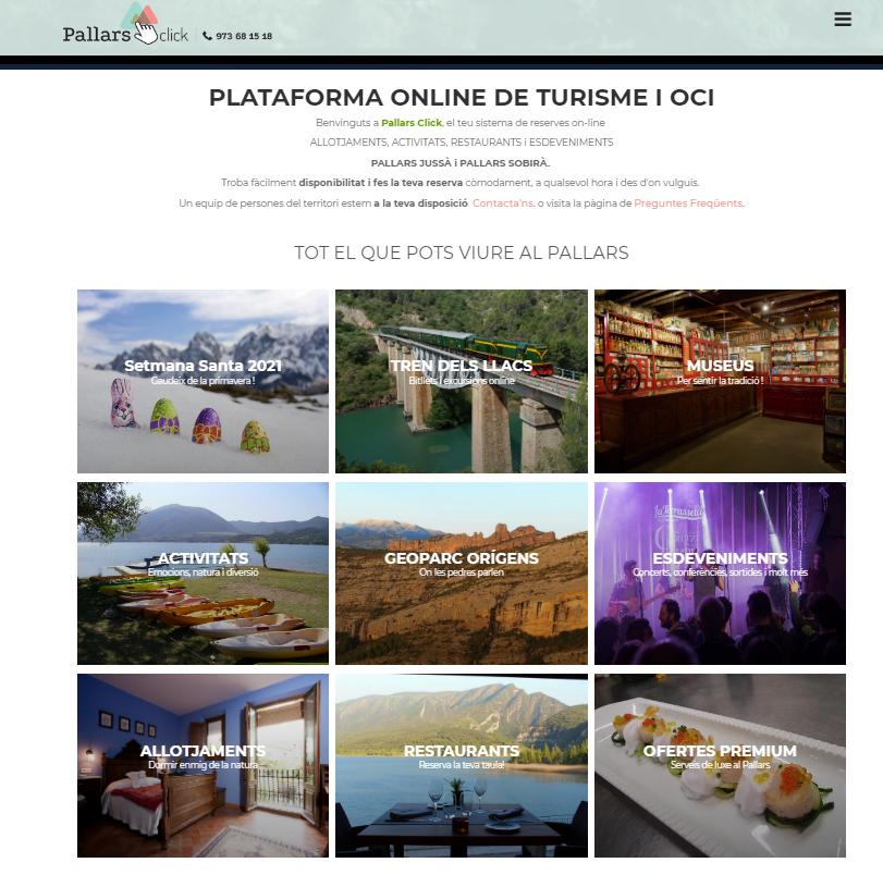 Neix una nova plataforma de serveis turístics als Pallars: Pallarsclick.com