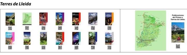 Plafó amb les publicacions temàtiques de descàrrega i consulta amb codis QR