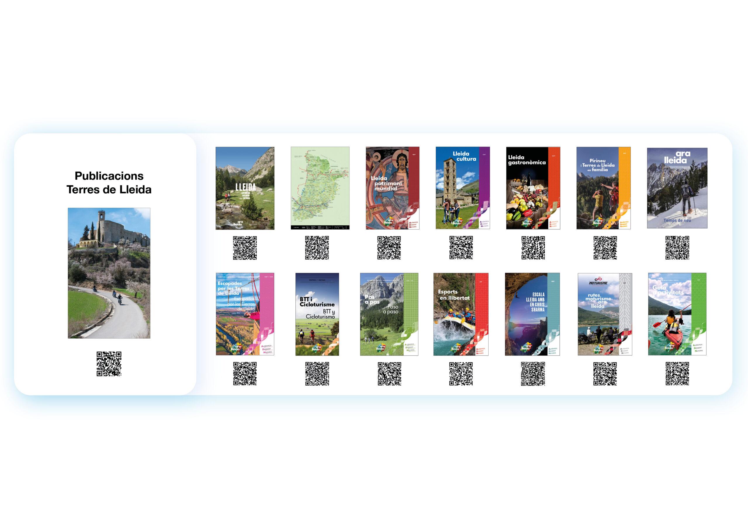 Publicacions Ara Lleida amb els Códis QR a l'estand del Patronat de Turisme a la B-Travel de Barcelona