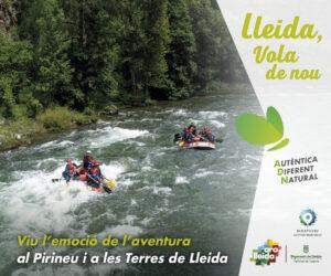 Banner campanya estiu Ara Lleida 2021. Turisme actiu