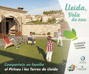 Banner campanya estiu Ara Lleida 2021. Turisme familiar