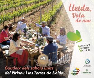 Banner campanya estiu Ara Lleida 2021. Turisme gastronòmic