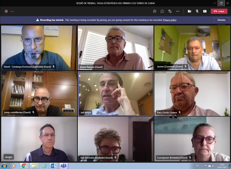 Fotografia de la reunió virtual