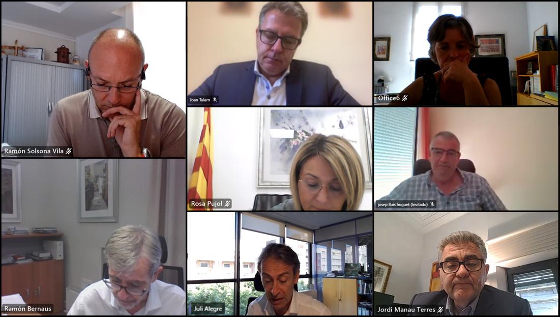 Reunió del Consell d'Administració del Patronat de Turisme presidit pel president de la Diputació, Joan Talarn.